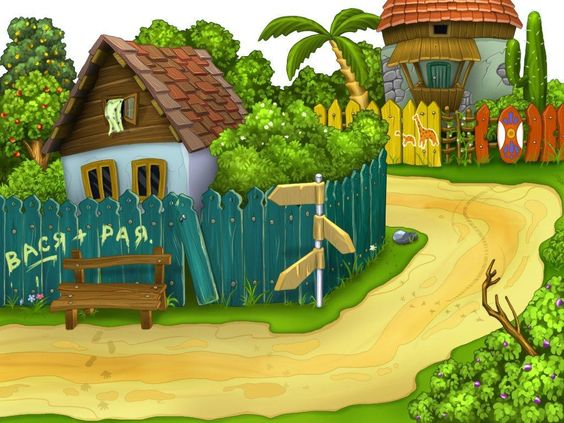 cartoon house Wallpapers