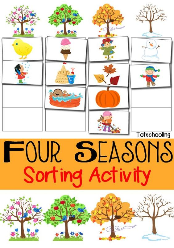 Four Seasons Sorting Activity