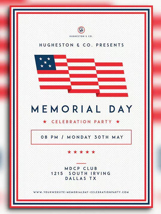 Memorial Day Flyer Set By Dannyaldana On Envato Elements Memorial Day Memorial Day Graphic Flyer Design Templates