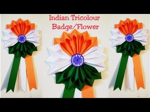 Diy Indian Tricolour Craft Idea How To Make Indian Tricolour Badge