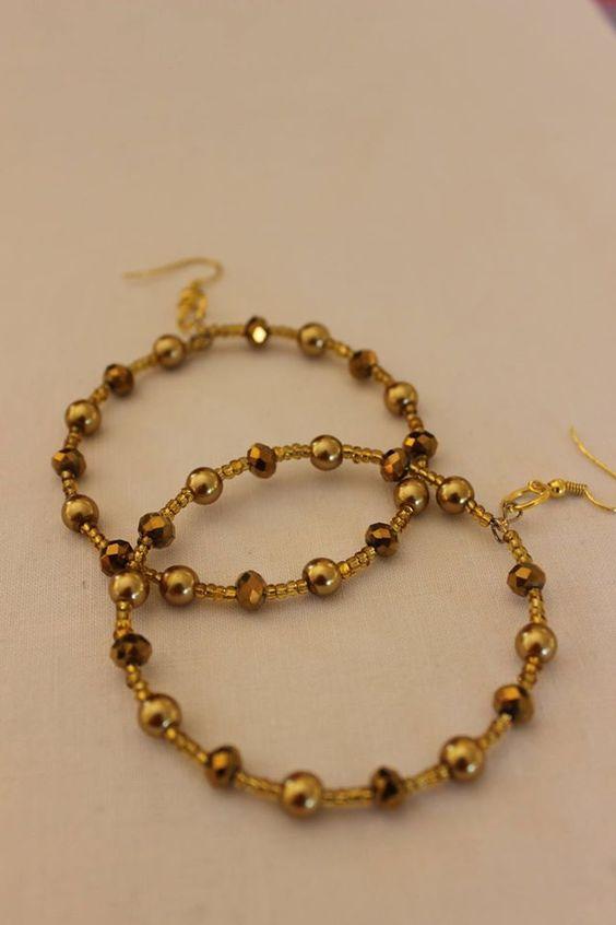 gold glass earings
