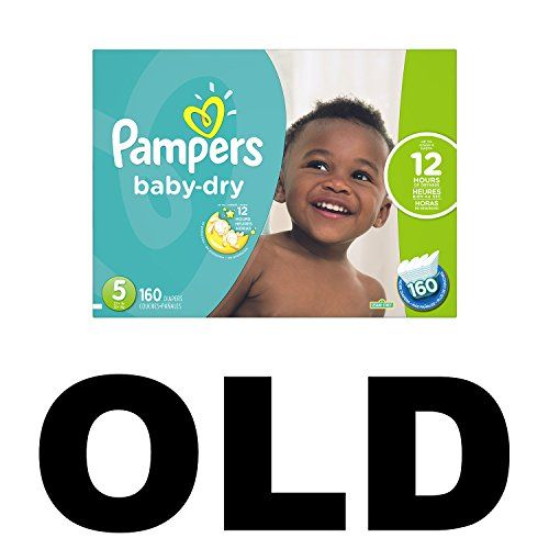 160 Count ECONOMY PACK PLUS Pampers Baby-Dry Disposable Diapers Size 5