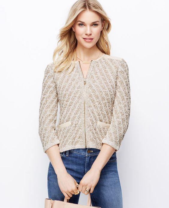 Marled Sweater Jacket | Ann Taylor