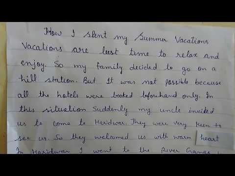How I Spent My Summer Vacation Youtube Learn English Holiday Essay For Kids