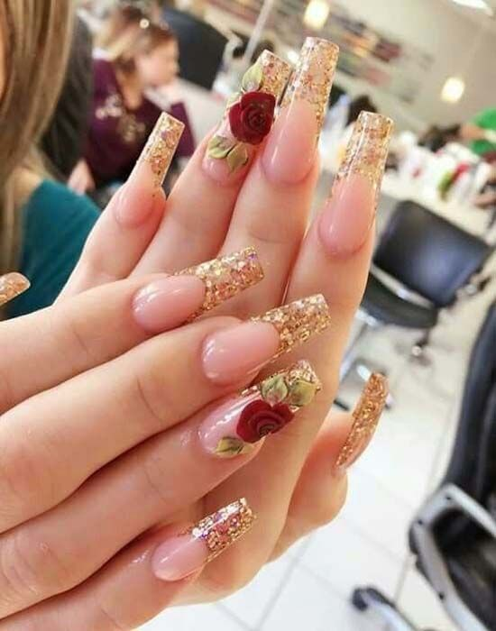 Find Winter Nail Designs That Look Elegant And Lovely Pretty Nail Art Designs Coffin Nails Designs Prom Nails
