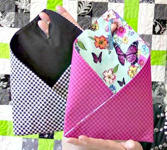 How to Sew Hanging Door Pockets - A free video tutorial from Laura Coia of Sew Very Easy