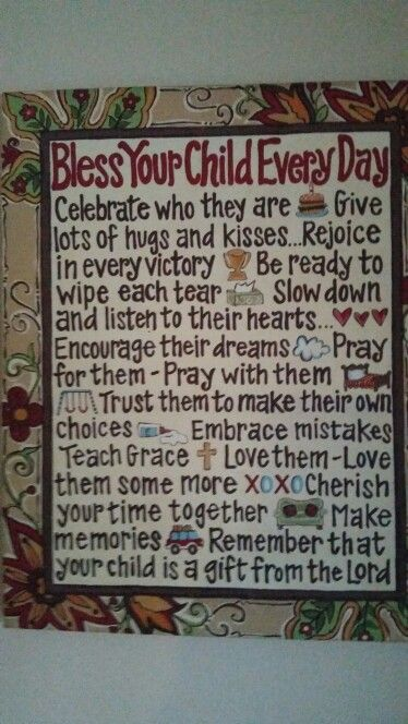 My favorite picture ! It's a daily reminder that our children are a gift from GOD !