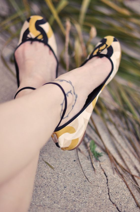 adding ankle straps to ballet flats