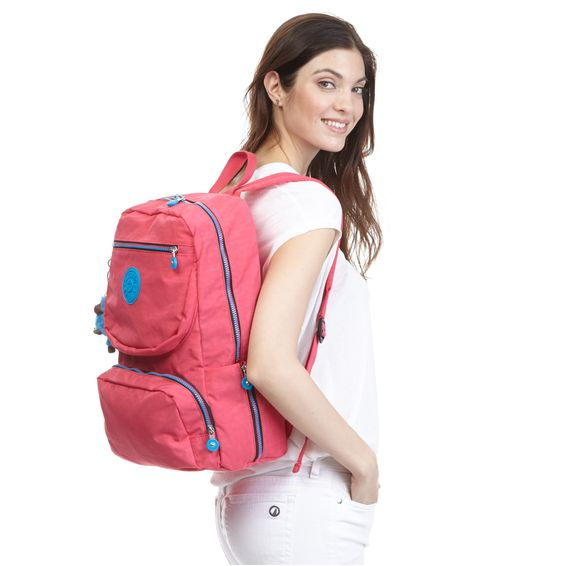 Dawson Laptop Backpack - Vibrant Pink CZ | Kipling