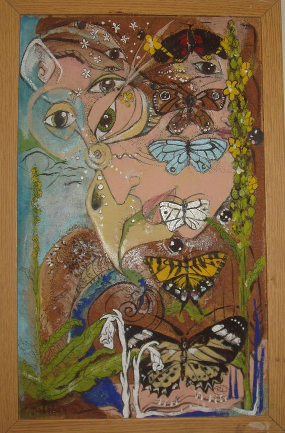 Original Painting.  Sale. Song of the Green by mulberrymudd