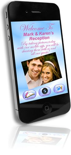 what will they think of next? Coolest Wedding APP!!! Eliminates the need for disposable cameras at weddings! Fully customized to you and your event details. Guest-to-Guest Photo Sharing - photos captured by your guests are instantly shared with all other guests in real time! It's like everyone's using the same camera at the same time! Also features a live big screen slide show as photos are being taken by your guests in real-time.
