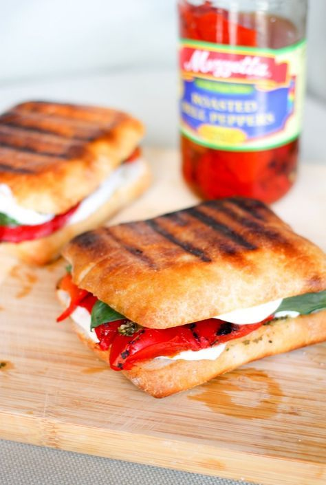 roasted red peppers red peppers grilled cheeses pesto basil cheese red ...