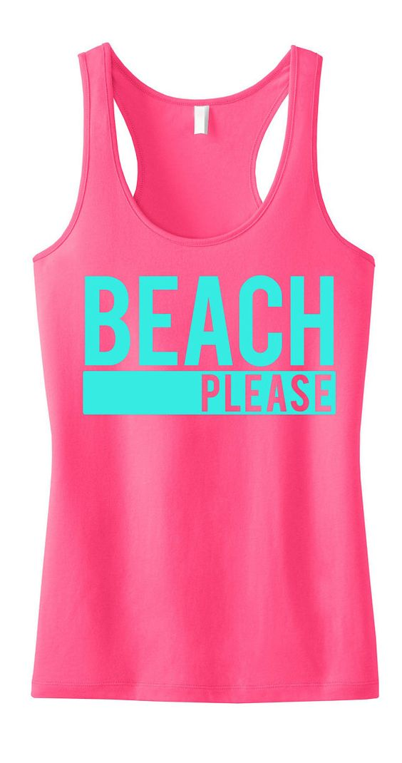 Beach clothes tanks and beaches on pinterest for Best work out shirts