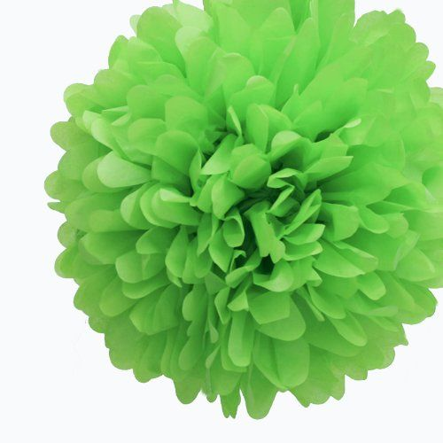 "Green Decorative Balls Awesome Dress My Cupcake 14"" Kiwi Green Tissue Paper Pom Poms Set Of 4 Inspiration Design"