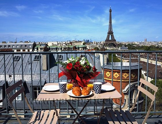 Dream Breakfast Spot In Paris Start Your Day With Marvelous Views Of The Eiffel Tower From Rooftop Terrace At Cote Rotie