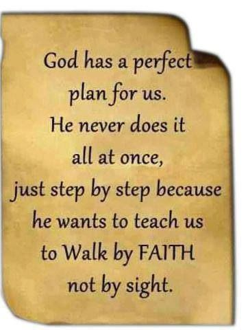 God has a perfect plan for us...