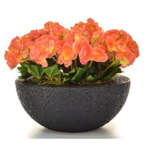 The Seasonal Aisle Artificial Begonia Floral Arrangements In Moscow Pot Wayfair Co Uk Aisle Flowers Rose Floral Arrangements Making Plant Pots