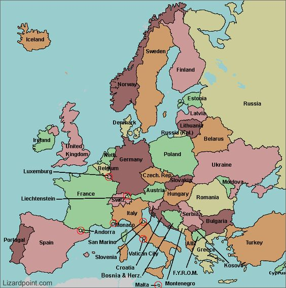 map of Europe with countries labeled maps Pinterest Interactive map Qu