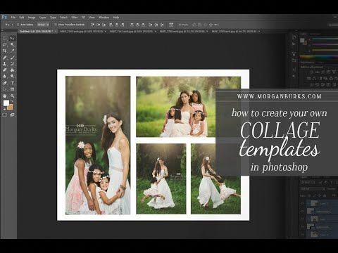 Learn To Create Your Own Collage Templates In Photoshop In This Video I Ll Show You How To Cr Photoshop Photoshop Collage Template Photoshop Tutorial Fantasy