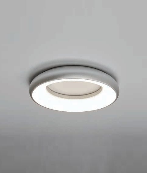 Silver Halo Flush Wall Or Ceiling Light Ceiling Lights Flush Lighting Ceiling