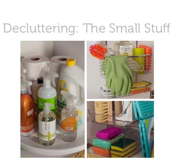 DECLUTTERING THE SMALL STUFF: Kitchen Organization, Lazy Susan, Under Sink, Under Kitchen Sink, Kitchen Sinks, Cleaning Supplies, Organization Ideas