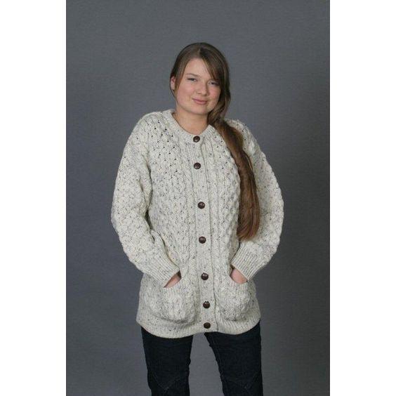 modele tricot gratuit veste irlandaise