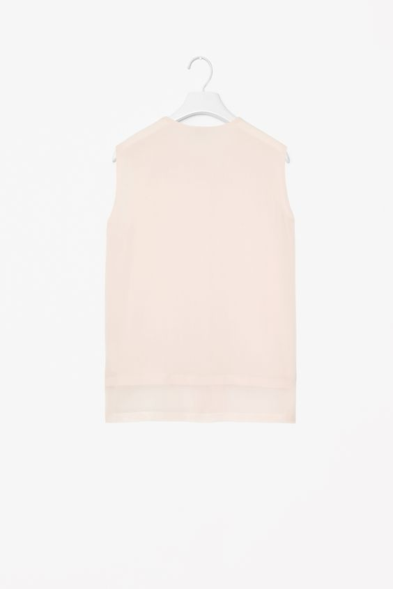 COS | Sheer hem silk shirt