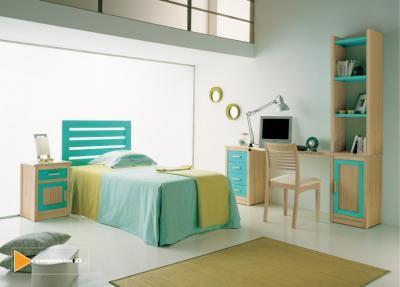 Dormitorio juvenil en tonos verdes y turquesa via dormitorios.blogspot.com VERDE MANZANA Y TURQUESA