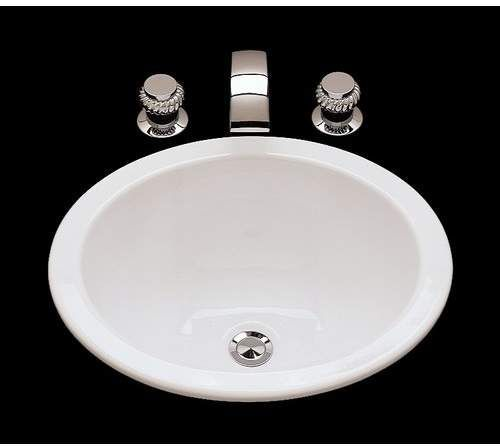 Suzanne Ceramic Circular Drop In Bathroom Sink With Overflow