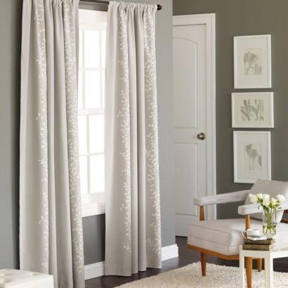 Embroidered Vine Light Blocking Curtain Panel - Threshold ...