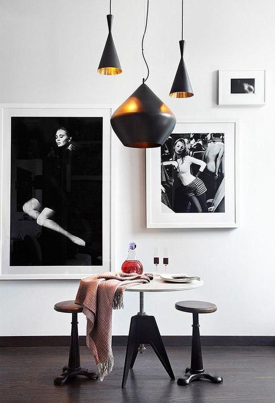 paredes decoradas en blanco y negro