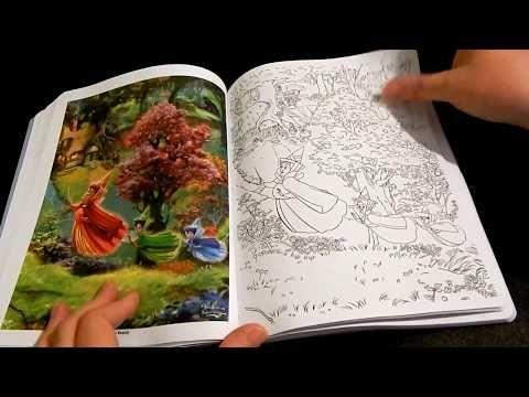 Coloring Book Flip Through Disney Dreams Collection By Thomas Kinkade Youtube Coloring Books Mickey Mouse Coloring Pages Thomas Kinkade
