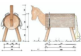 Bauzeichnung Holzpferd