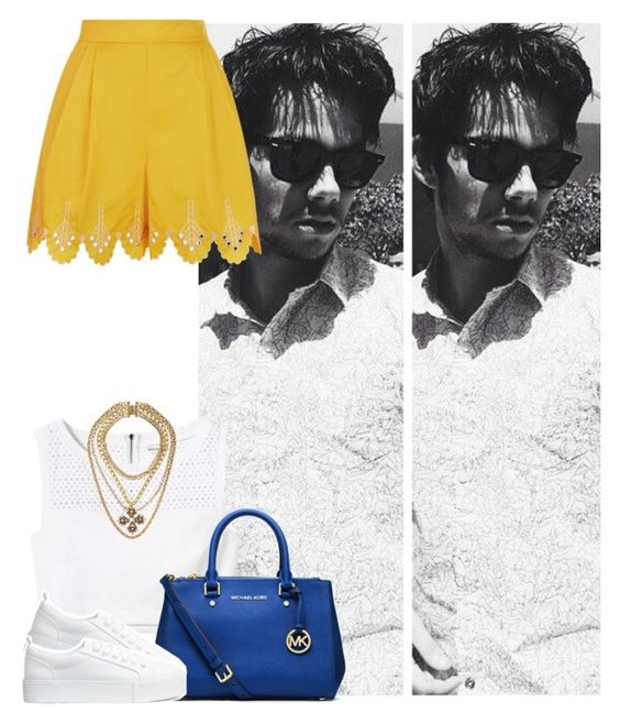 """""""#440"""" by zarina-fashion ❤ liked on Polyvore featuring Temperley London, Rebecca Taylor, MICHAEL Michael Kors, H&M and VICKISARGE"""