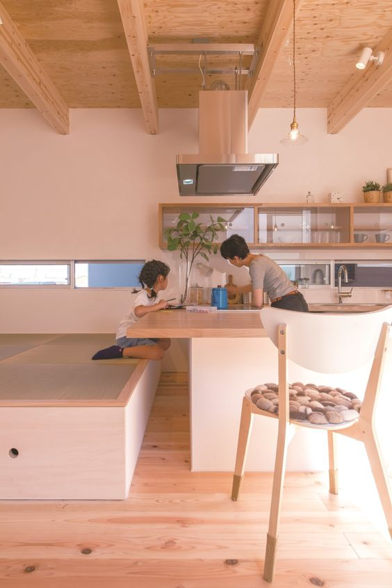 造作キッチン 畳 カウンター 変形 実例 サンプル おしゃれ