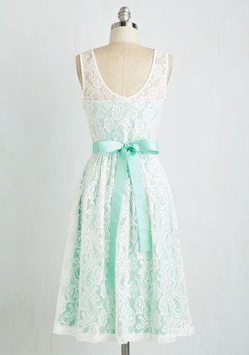 Lacy in Love Dress in Mint | Mod Retro Vintage Dresses | ModCloth.com