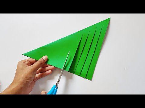 Christmas Tree Making Diy Paper Craft Youtube Mini Christmas Tree Diy Paper Crafts Diy Diy Paper