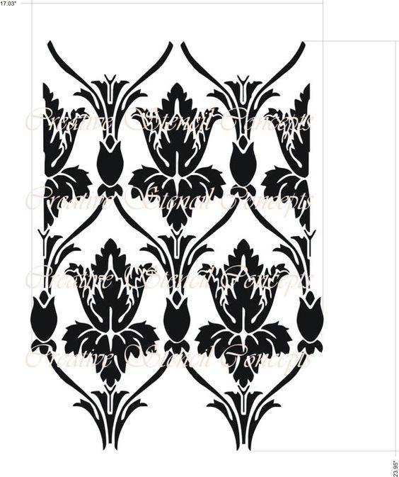 Sherlock Holmes Damast Allover dekorativen Schablone aus TV-Serie auf BBC Design 10621014-A