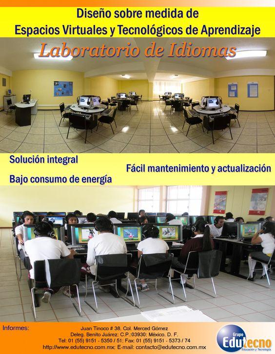 Laboratorios de idiomas, alineados con los objetivos del plan de estudios. Acorde a las necesidades de la institución. Diseñados en colaboración con los docentes y autoridades.