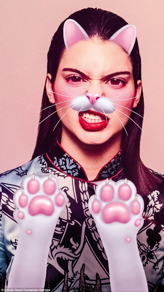 She's a pussycat! The campaign features a host of animated characters created by the likes of Marc Jacobs, Pat McGrath, Hattie B, Burberry, Emilio Pucci