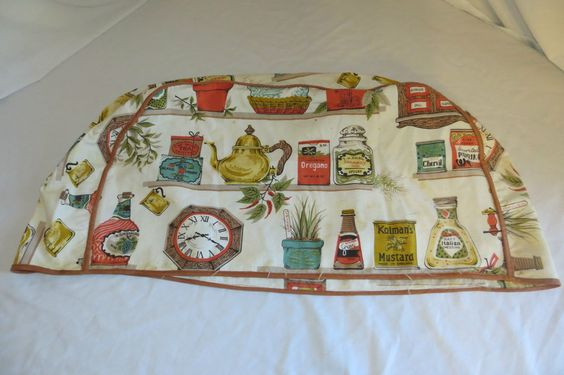 "Vintage 20"" Long 4 Slice Toaster Cloth Cover, Kitchen Pantry Theme in Collectibles, Linens & Textiles (1930-Now), Kitchen Textiles 
