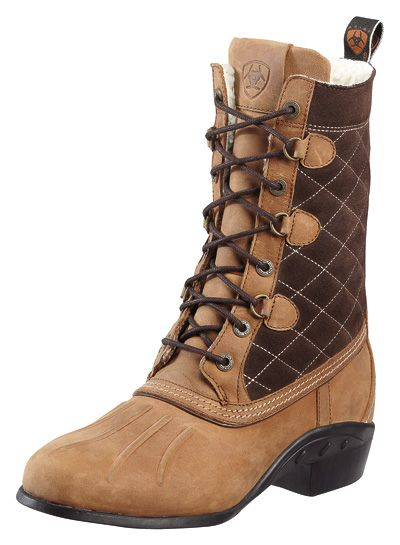 Ariat Barnsley Fleece Paddock Boot in Walnut - This cute and