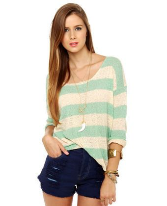 Stick With Knit Stripped Sweater from LuLu's