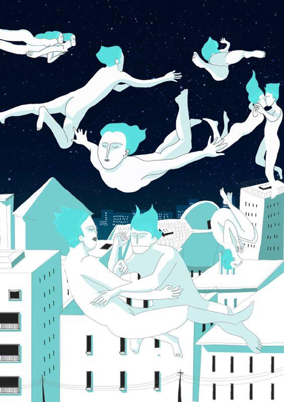 02 / Juan Martin Ayerbe / Noche / from: La Vuelta al Mes en 30 Ilustradores