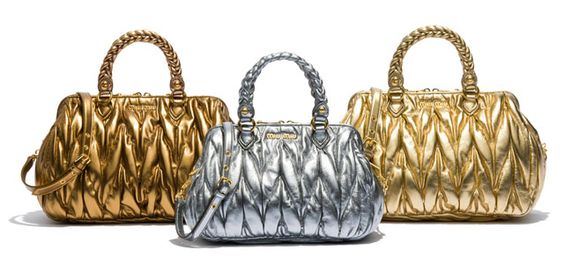 I'll be Olympic-ready with these. So GORGEOUS! > Miu Miu Matelasse Satchels
