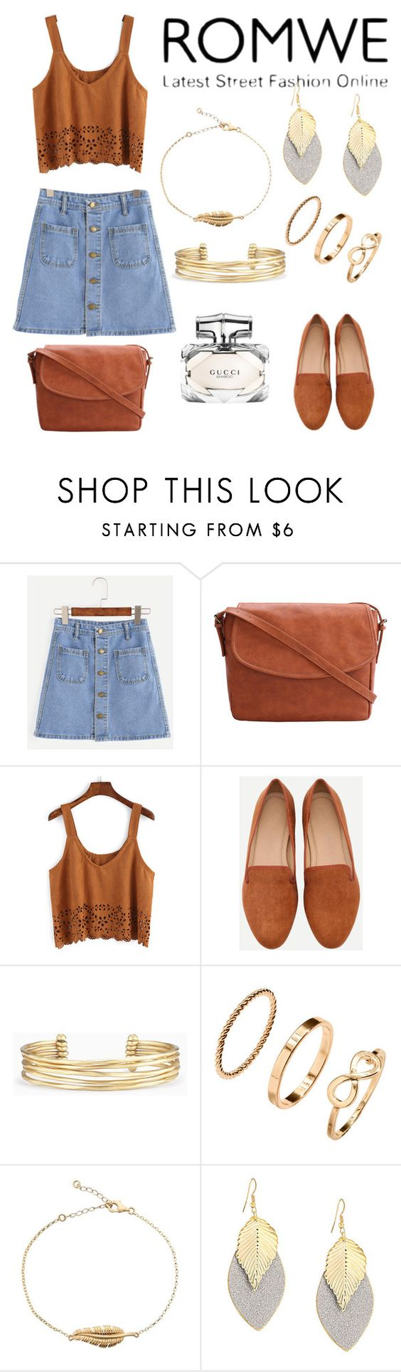 """romwe"" by mentalterrorist ❤ liked on Polyvore featuring Stella & Dot and Gucci"