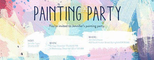 Painting Party Invitation Template Luxury Free Birthday
