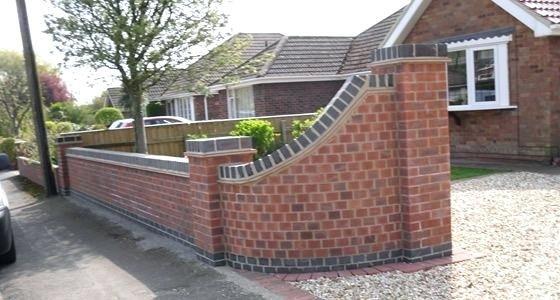 Front Garden Brick Wall Designs Enjoy Unique Beautiful Garden Brick Wall Garden Wall Example Builders Design Garden Wall Designs Brick Wall Gardens Brick Fence