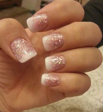 Short Acrylic Nail Designs Another Heaven Nails Design 2016 2017 Acrylicnailsshort Ombre Nails Glitter Fancy Nails Glitter French Manicure