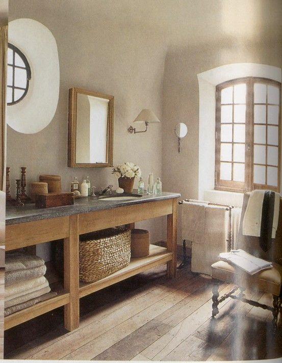 Exemple d co salle de bain campagne coiffeuses chaises for Deco salle de bain rustique